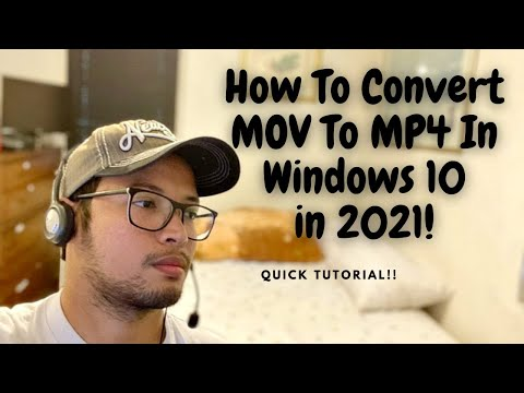 How To Convert MOV To MP4 For FREE In Windows 10 (in Seconds!)