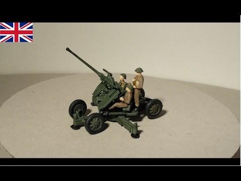 40mm Bofors Geschütz - British Army - 1:72 Modell