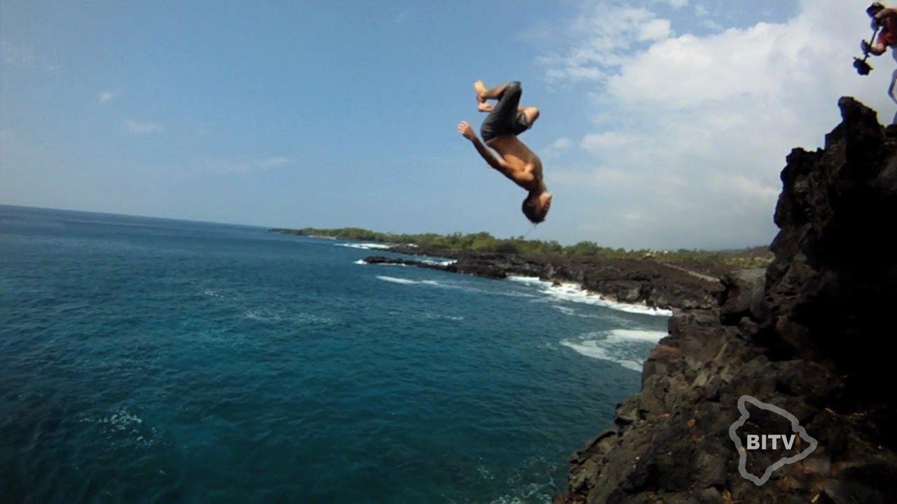 Hawaii Cliff Diving Big Island