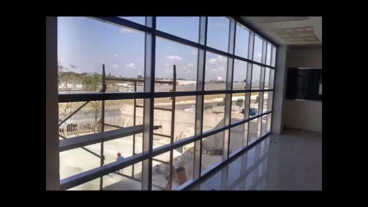 Alumarq fachada 450 cuprum youtube for Fachada aluminio