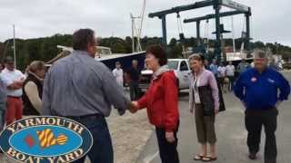Senator Susan Collins visits Yankee Marina and Yarmouth Boat Yard