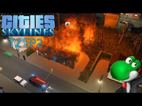 """🏡 Cities Skylines T2 🏭EP2: """"Não ligo para incêndios"""""""