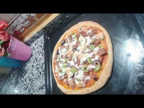 صورة  طريقة عمل البيتزا طريقة عمل البيتزا باللانشون والزيتون طريقة عمل البيتزا من يوتيوب