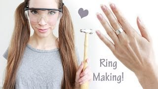 HOW TO MAKE A HAMMERED STERLING SILVER RING + GIVEAWAY (closed) Thumbnail