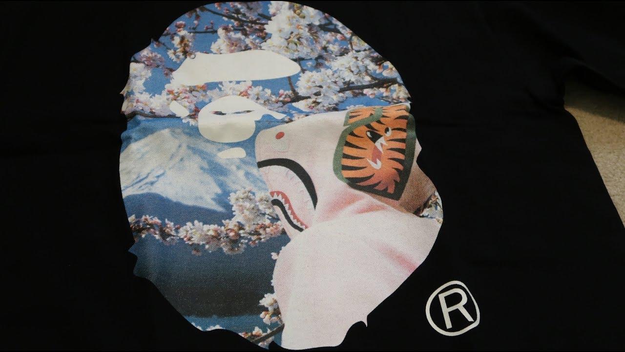 b2e750ff2 BAPE SAKURA APE HEAD PHOTO TEE PICKUP/UNBOXING - YouTube