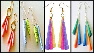 Quilling Earrings - How to make Quilling Hangings Earrings