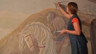 Обучение РОСПИСИ СТЕН на объекте  Курс по росписи стен
