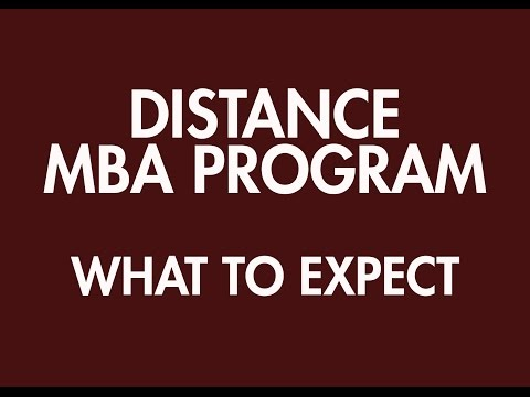 Distance MBA Program: What to Expect