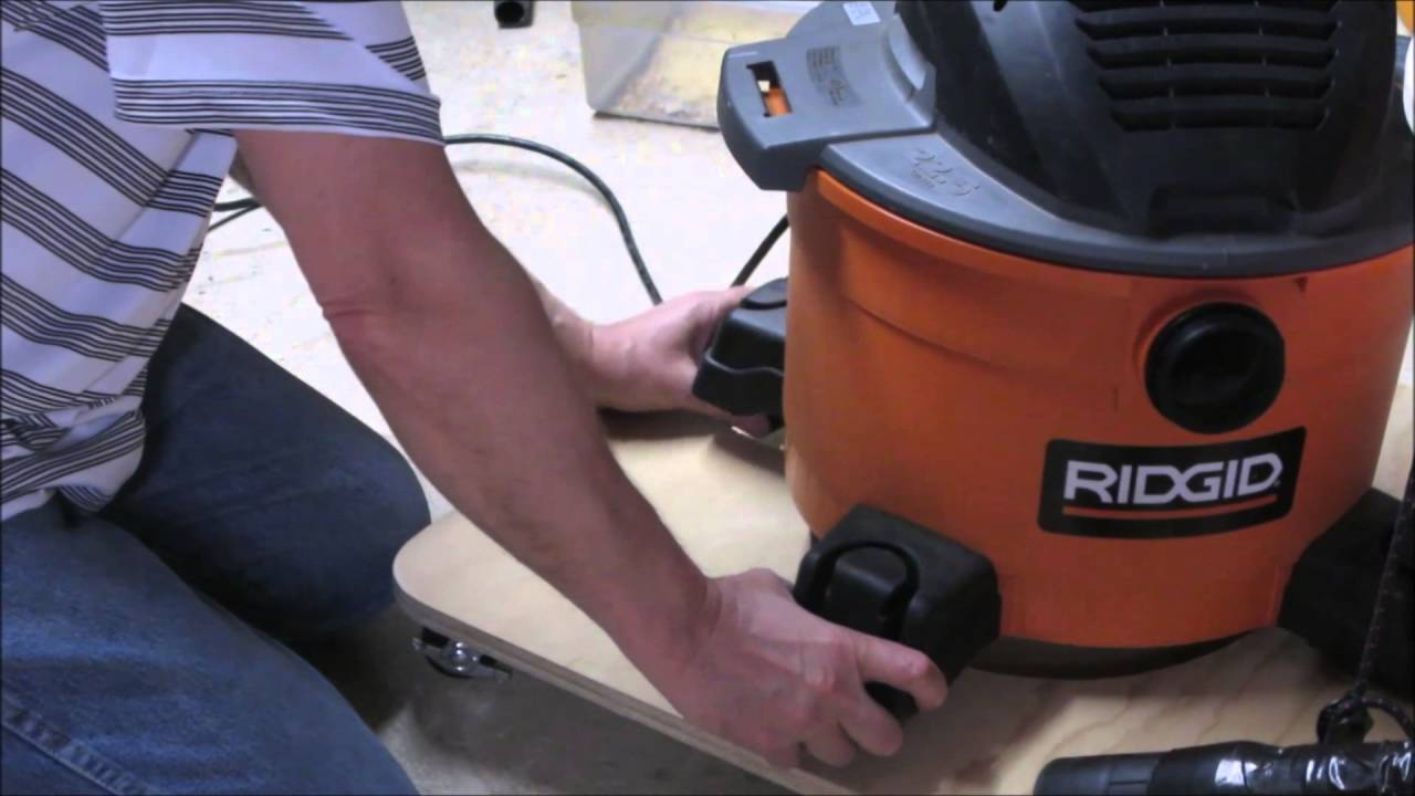 Dust Deputy Hookup on a Cart for Fein or Rigid Vacuums