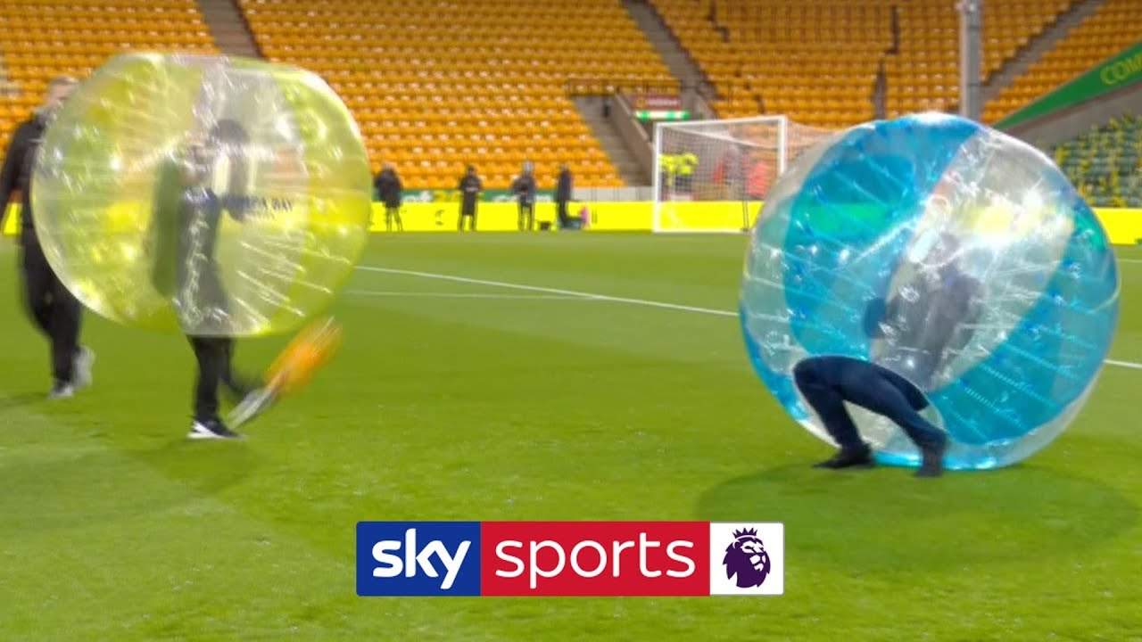 HILARIOUS! Jamie Carragher & Gary Neville go head-to-head in zorb football ???? | FNF
