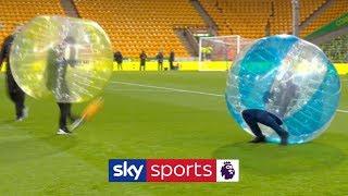 HILARIOUS! Jamie Carragher & Gary Neville go head-to-head in zorb football 🤣 | FNF