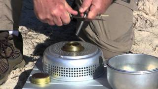 Trangia 25-4, (Showing Bark River Aurora knife and Campacopia Firesteels)