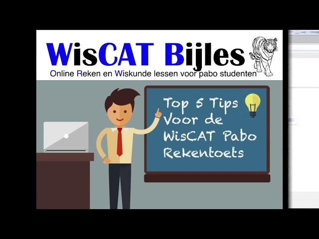 5 Tips om de WisCAT Pabo Rekentoets te halen!