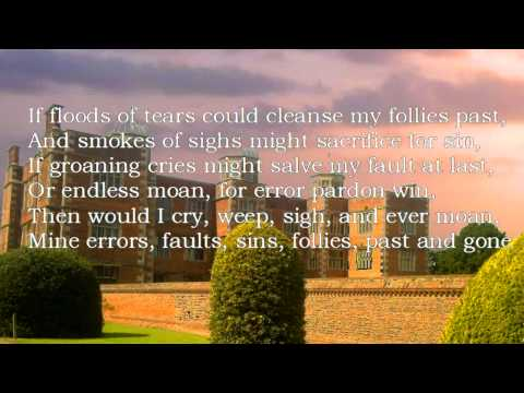 John Dowland - If fluds of teares could clense my follies past