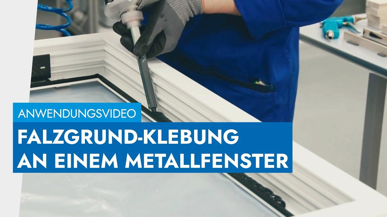 Metallfenster kleben -- Falzgrund-Klebung & Klebung auf Position 1 ...