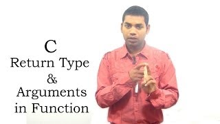 Return Type and Arguments in Function in C (HINDI)