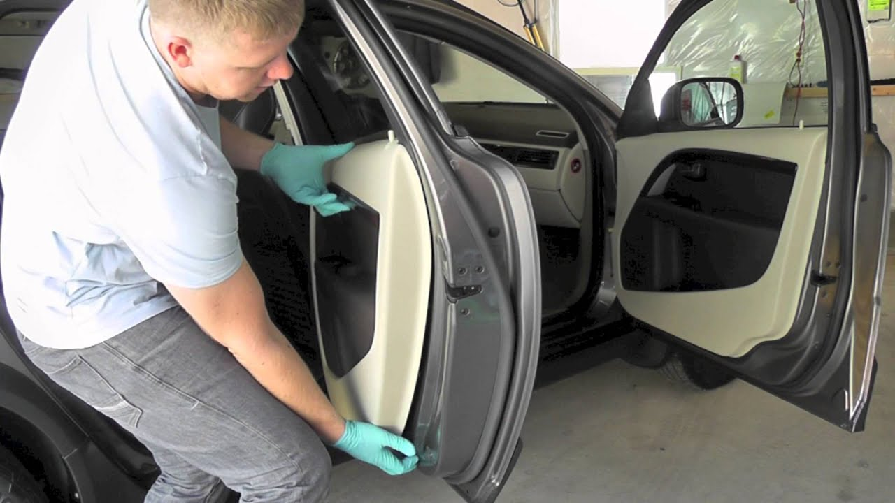 volvo xc70 t6 p3 2008 door panel removal youtube