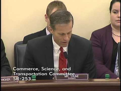 Thune Offers Remarks at Commerce Markup