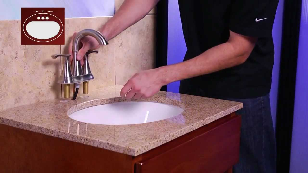 Installing a Pfister 4 Centerset Bathroom Faucet with