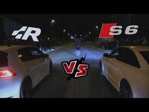 Vw Golf 7 R Vs Audi S6 Streetrace Striben Copenhagen