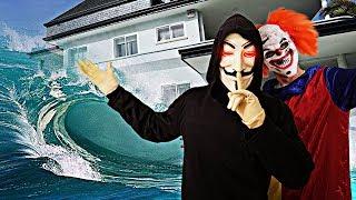 EL PAYASO Y EL HATER NOS INUNDAN LA MANSIÓN !! *el hacker nos engaña* Exi