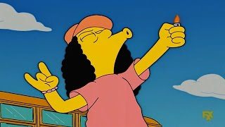 Bus driver on drugs - the simpsons