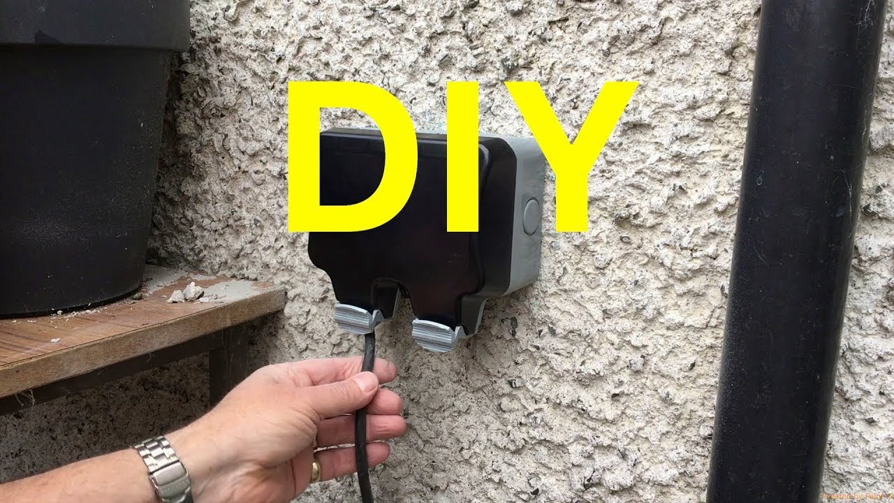 How To Fit A Weatherproof Double Outside Socket Yourself Youtube Wiring 3 Wire Hot Tub 4 Circuit