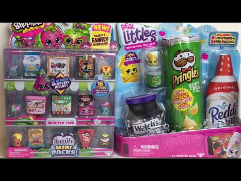 Shopkins Real Littles Season 12 and Season 11 Family Mini Packs Toy Blind Bags Unboxing & Review