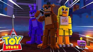 Minecraft TOYS CHIKA AND FREDDY CATCH LITTLE KELLY w Sharky and Little Carly