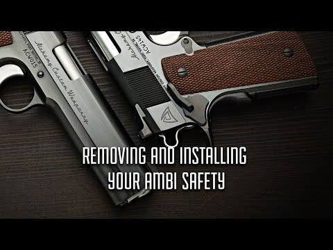 How to Remove and Reinstall Your 1911 Ambi Thumb Safety (Hammer pin Retention Models)