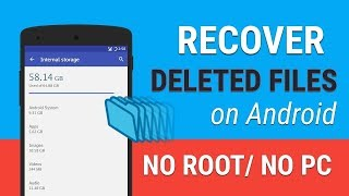 Android App to Recover DELETED Files on Android Phone | NO PC Required How to recover deleted images