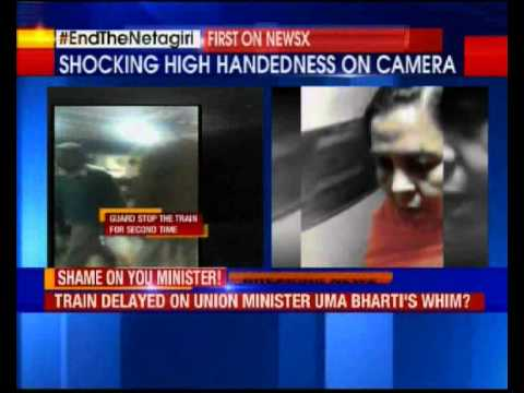 Supporters stop train for Uma Bharati in Jhansi