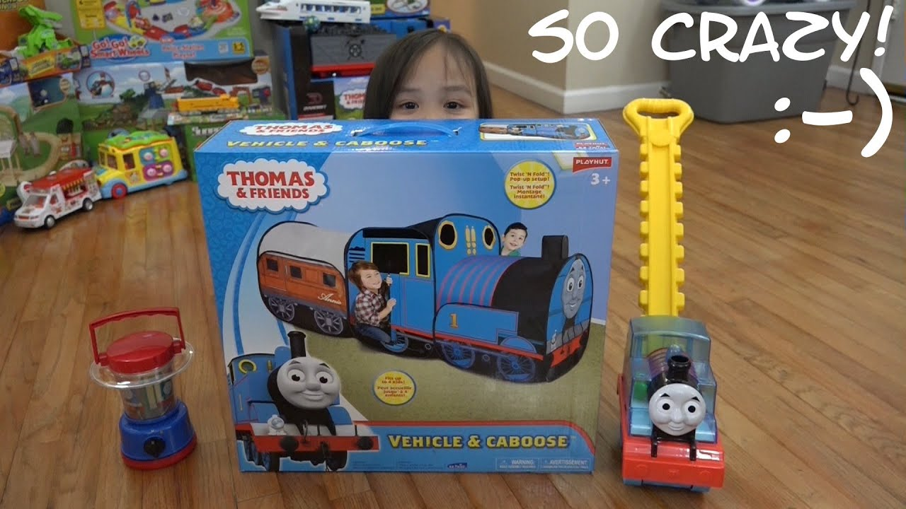 huge discount e15b2 6aac5 Thomas the Tank Engine, Annie & Clarabel Playhut Play Tent Unboxing and  Playtime