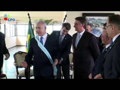 President Bolsonaro awarded PM Netanyahu Brazil's highest national award