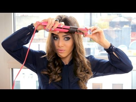 Curling With Straightener By Camila Coelho