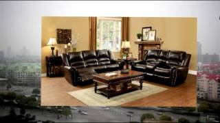Homelegance 9668brw-2 Double Glider Reclining Loveseat With Center Console Brown Bonded Leather