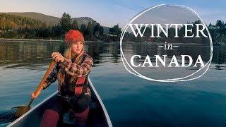 Canoe camping in Cąnadian winter!