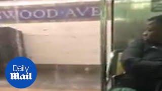 Heavy rains causes major flooding in New York City subways
