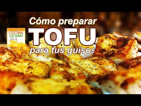 Tofu sazonado para tus guisos - Cocina Vegan Fácil