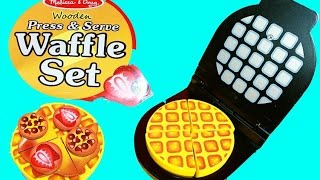 New Melissa & Doug Waffle Set Wooden Learning Educational Toys Decorating Cake Video