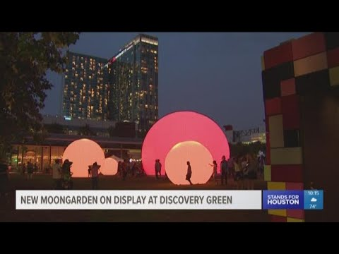 New 'moonGARDEN' on display at Discovery Green