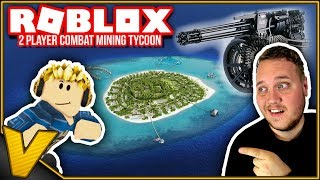 BUY a PRIVATE island and SAFETY EQUIPMENT 🤑:: 2 Player Combat Mining Tycoon Roblox Danish