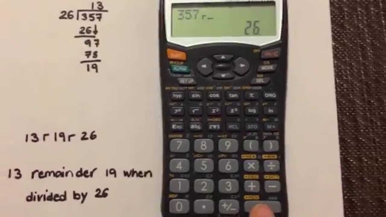 how to get the remainder using your sharp el 531w calculator youtube rh youtube com