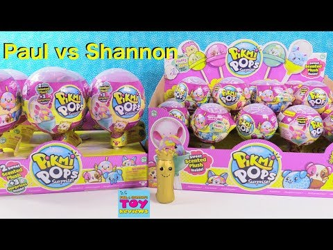 Paul vs Shannon Challenge Pikmi Pops Surprise Scented Plush Toy Review | PSToyReviews