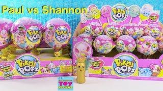 Paul vs Shannon Challenge Pikmi Pops Surprise Scented Plush Toy Review   PSToyReviews