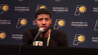 Postgame: Paul George Press Conference - Dec. 13, 2017