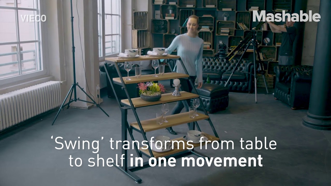 Transform Your Dining Room Table Into a Shelf Within Seconds