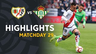 Rayo vallecano draw the match against real betis 1-1. raul de tomas scored goal for paco jemez's team and cristian tello visitors. lal...