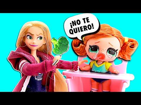 🍼 ¡RAPUNZEL ADOPTA una LOL SURPRISE! ► 🌙 Novelas con muñecas y juguetes