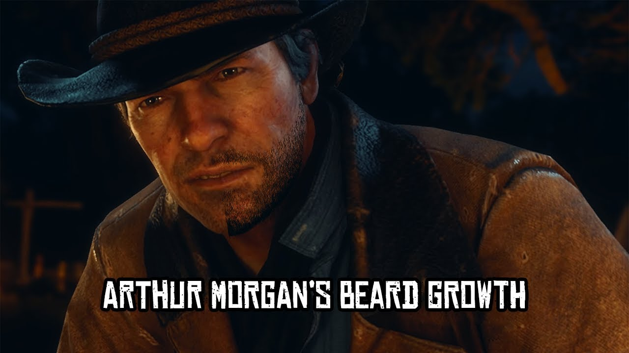 Red Dead Redemption 2 Arthur Morgan S Beard Growth Youtube